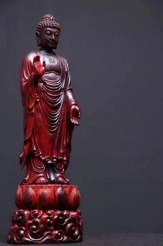 tượng gỗ tử đàn phật a di đà